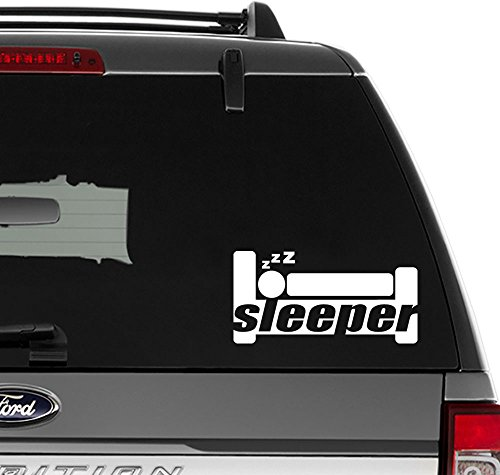 JDM Sleeper Vinyl Decal Sticker for Wall Decor, Windows, Laptop, Car, Truck, Motorcycle, Vehicles (Size-10 inch/25 cm Wide) - (Gloss White Color) -