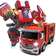 Juguete de camión de bomberos, Robot de deformación de automóvil, Robot de combate,