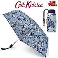Cath Kidston Badger & Friends Tiny Flat Handbag Size Folding Umbrella & Matching Cover 8F3742