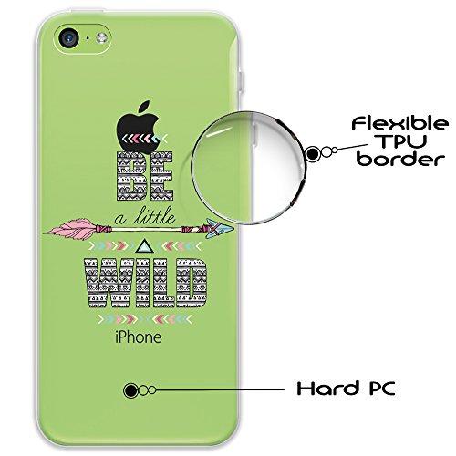 iPhone 5C Hülle, WoowCase Handyhülle Silikon für [ iPhone 5C ] Mondrian Stil Rechtecke Handytasche Handy Cover Case Schutzhülle Flexible TPU - Rosa Hybrid Hülle iPhone 5C D0316