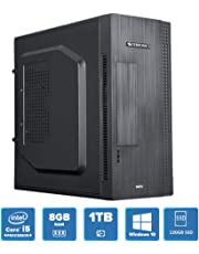 Speed MT5811 Desktop PC (Intel Core i5-2400 2.5 Ghz (Max 3.1 Ghz), 8GB DDR3, Intel HD Graphics, 120GB SSD, 1TB HDD 7200RPM, 3.0 USB, WiFi & Win 10) Black