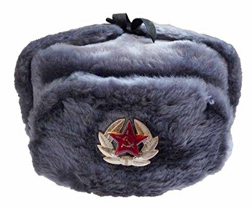 Russenmütze mit oder ohne Stern Grau 59