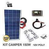 VIASOLAR Kit 150W Camper 12V Panel Solar