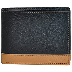 Gentleman Genuine Leather Mens Wallet (Tan and Black)