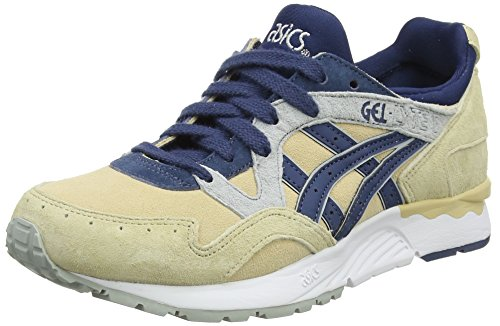Asics Damen Gel-Lyte V Sneaker, Braun (Marzipan/Dark Blue 0549), 40.5 EU
