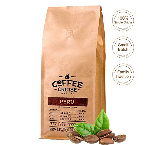 COFFEE CRUISE  Single Herkunft Kaffeebohnen - Peru - 1 kg- 100% Arabica Beans