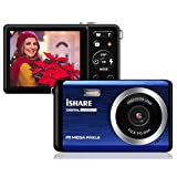 Mini Digital Camera for Photography with 2.8 Inch LCD 8X Digital Zoom, 20MP HD Digital Camera Rechargeable Point and Shoot Camera,Indoor Outdoor for Kids/Seniors/Learner(Blue)