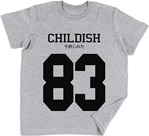 Childish Jersey Kinder Jungen Mädchen Unisex T-Shirt Grau - Lil Rosa Wayne Shirt