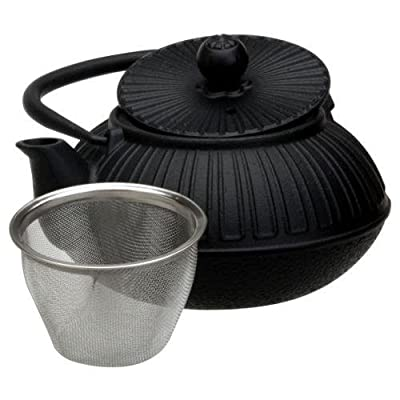 Saveur et Degustation KA1435 Théière avec Infuseur Fonte Noir 15,8 x 14 x 15,4 cm 600 ML