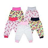 TupTam Unisex Baby Pumphose Jersey Schlupfhose 5er Pack, Farbe: Mädchen, Größe: 62