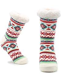 CityComfort Slipper Socks Mujer Girls Premium Home Soft Calcetines Tamaño 4 5 6 7 8 - Novedad Owl Dog Cat Fluffy y Furry Slipper Sock - Presente hermoso - SIN DESLIZAMIENTO