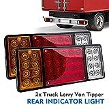Maso, 2 fanali posteriori per auto, 36 LED, 12 V, luce di stop, impermeabili, per auto, camion, furgoni, rimorchi, camion