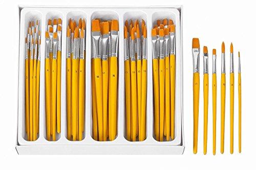 VBS Großhandelspackung 64 Pinsel-Set Rund und Flachpinsel Künstler Gr. von - 64-pinsel-set