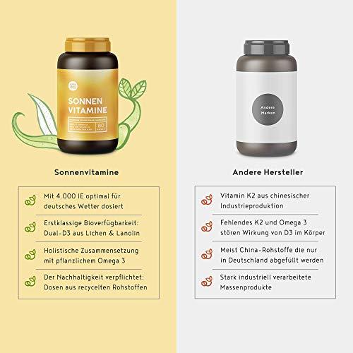 Sonnenvitamine Vitamin D3 + K2 + Omega 3, 80 Kapseln - 5