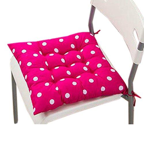Blancho Intérieur/extérieur Soft Home/Bureau Siège carré Coussin respirant Coussin avec sangle, Dot Rose Red