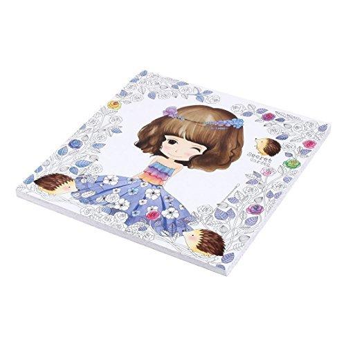 DealMux hogar para adultos jardín secreto chica linda aliviar el estrés pintada pintura Coloring Book
