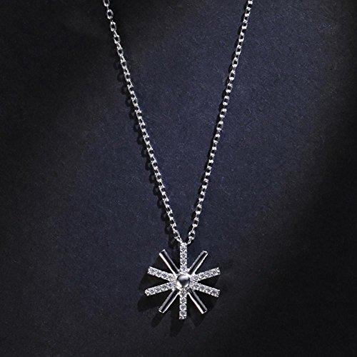 DCY-Angle 925 Silber Sun Anhänger Halskette Frauen Kette Link Valentinstag Geschenk