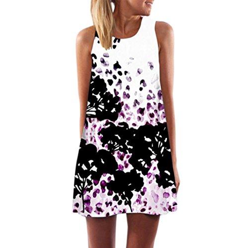 MRULIC Frauen Lose Sommer Weinlese Blumendruck Kurzschluss 3D Bild Minikleid Gerades Kleid mit Schmetterlinge Muster (EU-40/CN-M, - Lange Goldene Kleid