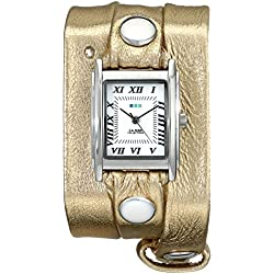 La Mer Collections Damen LMMTW1001 Metallic Gold Triple Wrap Armbanduhr