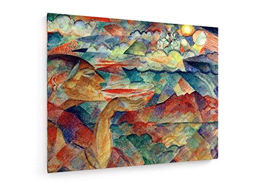 Paul Adolf Seehaus - der Trinker - 75x60 cm - Textil-Leinwandbild auf Keilrahmen - Wand-Bild - Kunst, Gemälde, Foto, Bild auf Leinwand - Alte Meister/Museum