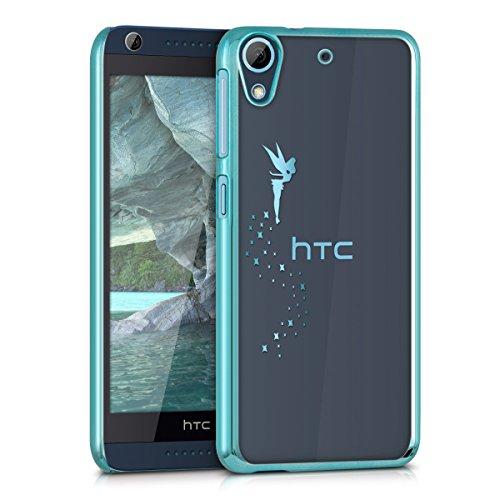 kwmobile Elegante y ligera funda Crystal Case Diseño hada para HTC Desire 626G en azul transparente