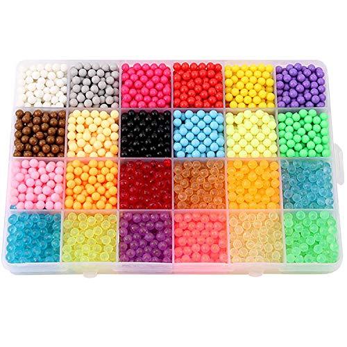 2fd066b40694 3600PCS 24 Colores Craft Sticky Beads compatible para Aquabeads