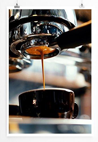 Eau Zone Bilder - Food-Fotografie - Frisch gebrühter Espresso- Leinwand Kunstdrucke Wandbilder aus Deutschland - Espresso Leinwand