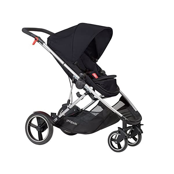 phil&teds Voyager Buggy Pushchair, Black phil&teds 4-in-1 modular seat! the most adaptable seat yet with four modes, parent facing, forward facing, lie Revolutionary stand fold with 2 seats on. Adjustable handlebar with hand-mounted brake Double kit easily converts to lie flat mode as well. 1