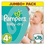 Pampers Baby Dry Größe 4+ Jumbo + Pack 76Windeln
