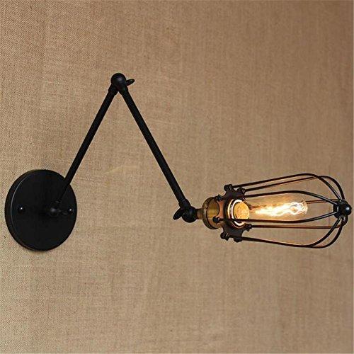 Unten Arm Kronleuchter (Industrieller langer Arm oben und unten Regulierungs Lampen Gang Treppenhaus Retro Wand Lampe (Dieses Produkt liefert keine Glühbirnen))