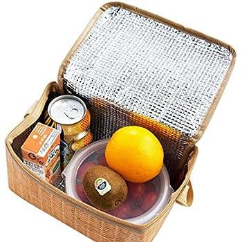 VLUNT Sacs Repas Isotherme, Sac à Déjeuner Sac Fraîcheur Portable Lunch Bag Bandoulière, Une Variété de Styles à Choisir