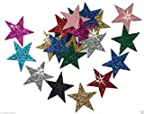 Mix Colour 25mm Self Adhesive Glitter Star Sticker card making craft Diy christmas by CrystalsRus