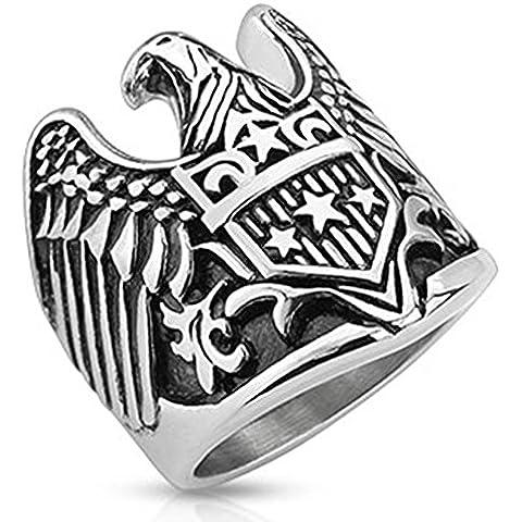 Paula & Fritz acciaio inox Biker anello in argento con