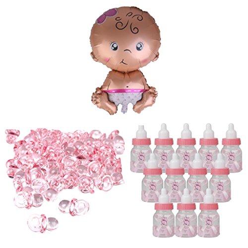 (MagiDeal Mini-Schnuller + Reize Baby Shower Party Ballon + Süßigkeiten Flaschen)