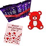 #10: Maalpani Valentines Day Chocolate Hampers Gift Chocolate Combo Hamper With Teddy Bear And Greetings