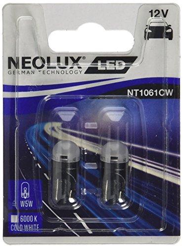 OSRAM NT1061CW-02B Neolux LED Retrofit 6000K-T10 (W5W)-12V/0.5W-Set de 2 pièces, Blanc