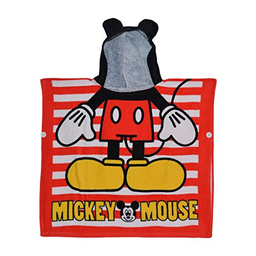 Baby Bucket Mickey Mouse Hooded Poncho Towel for the Bath or the Beach