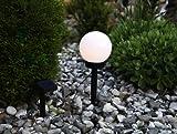 Kamaca LED SOLAR Kugel/Laterne mit Dämmerungssensor (Durchmesser Kugel 15 cm/Höhe bis 34 cm)