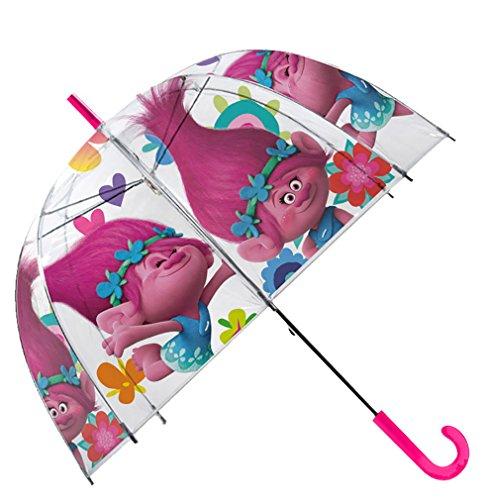 Trolls Paraguas Transparente Campana 48cm Manual Paraguas