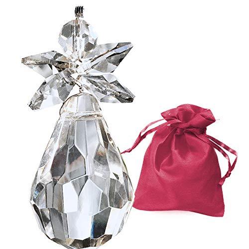 Christoph Palme Leuchten Schutzengel aus Kristallglas 55mm zum aufhängen Kristall Engel Charmes Schmuck-Anhänger, Glücksbringer, Giveaway oder als Dekoration für...