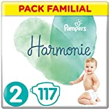 Pampers - Harmonie - Couches Taille 2 (4-8 kg) Hypoallergénique - Pack Familial (117 couches)