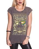 Pink Floyd T Shirt Carnegie Hall Tour Poster damen Nue Acid Wash skinny fit