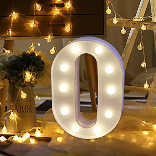 Wanshop® led lettere dell' alfabeto numeri sign light up a batteria decorativo lettera in piedi decorazione da appendere regalo a-z o