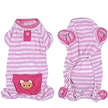 Pijama a rayas para perros y gatos