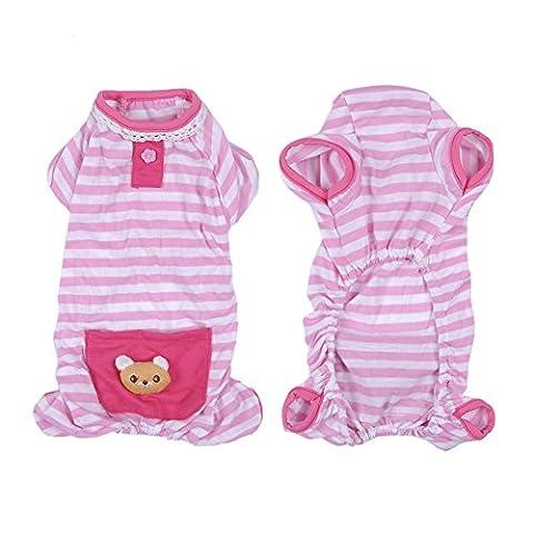 Hunde/Katze Pyjamas, Weich & Warm Haustier Schlafanzug Jacken/Sweatshirt/Pullover für Kleine und Mittelgroße Hunde - 2 Farbe und 4 vorhandene Größe(Rosa, M)