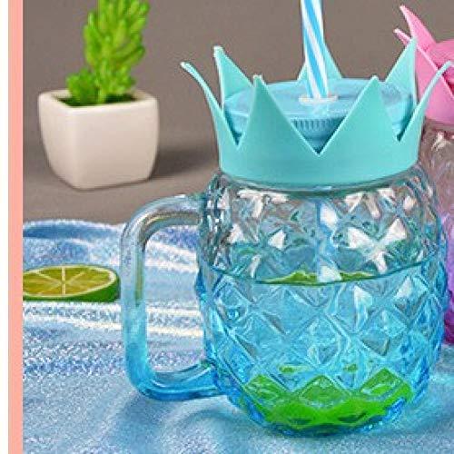 s Sippy Cup Mit Deckel Kaltes Getränk Saft Cup Große Kapazität Glas Mason Cup,Himmelblau,500 ml ()