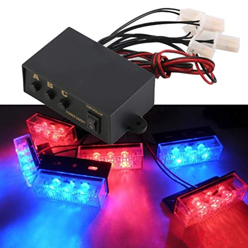 6 Ways LED Strobe Flash Light Lamp Emergency Flashing Controller Box 12V (Switch Light 3-way Wire)
