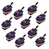 Kuman Servomotor 10 Pcs MG996R Metal Gear Torque Digital Servo Motor for RC Model Car Boat Helicopter KY62
