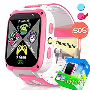 Smartwatch for Kids-TURNMEON Game Smart Watches for Girls Boys Christmas Holiday Birthday Gifts with SIM Card Slot Calls Alarm Clock for iOS Android Smartphone Travel Camping