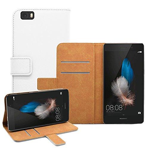 Membrane - Bianco Portafoglio Custodia per Huawei P8 Lite -